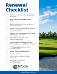 2022 NCGA Renewal Checklist
