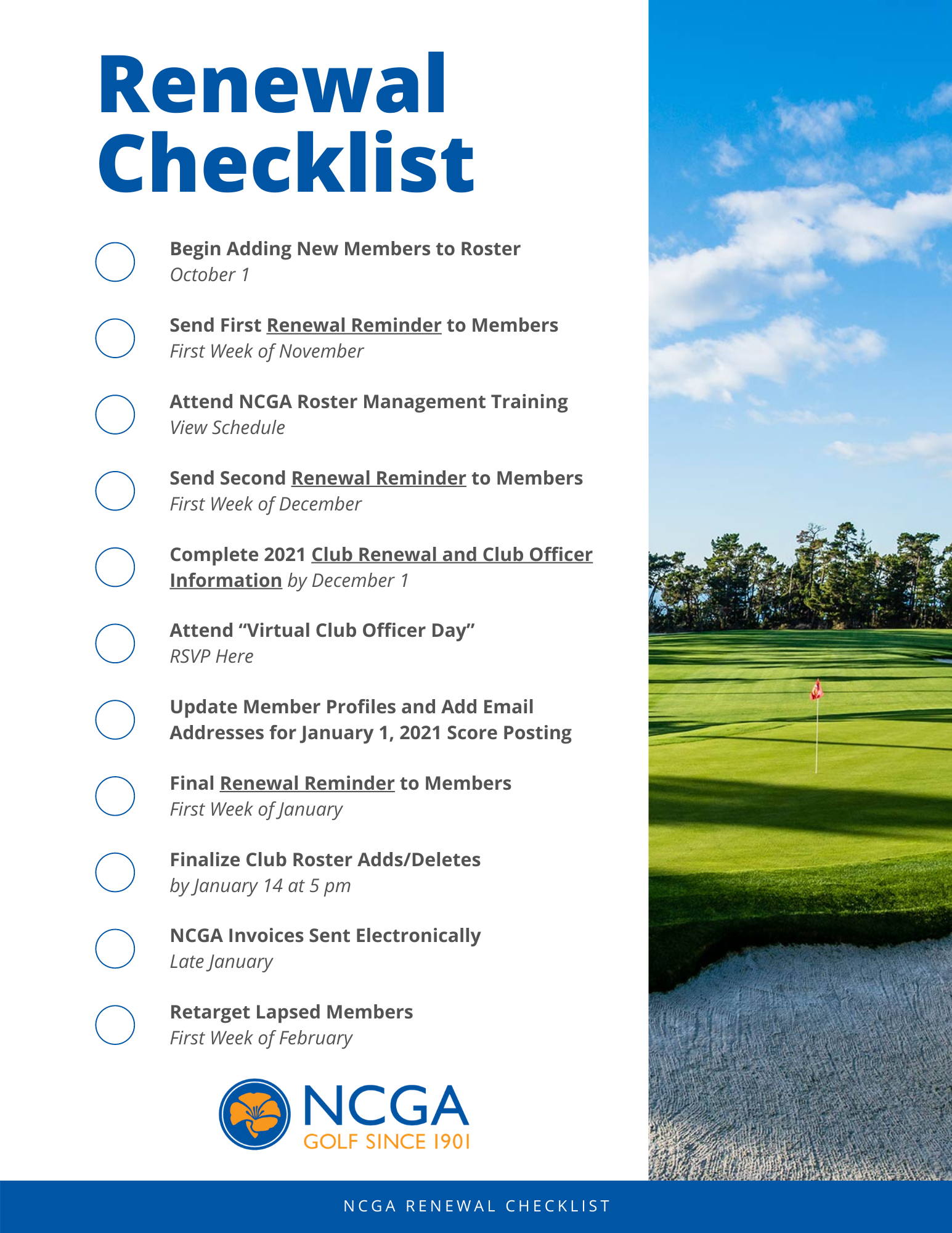 NCGA Renewal Checklist