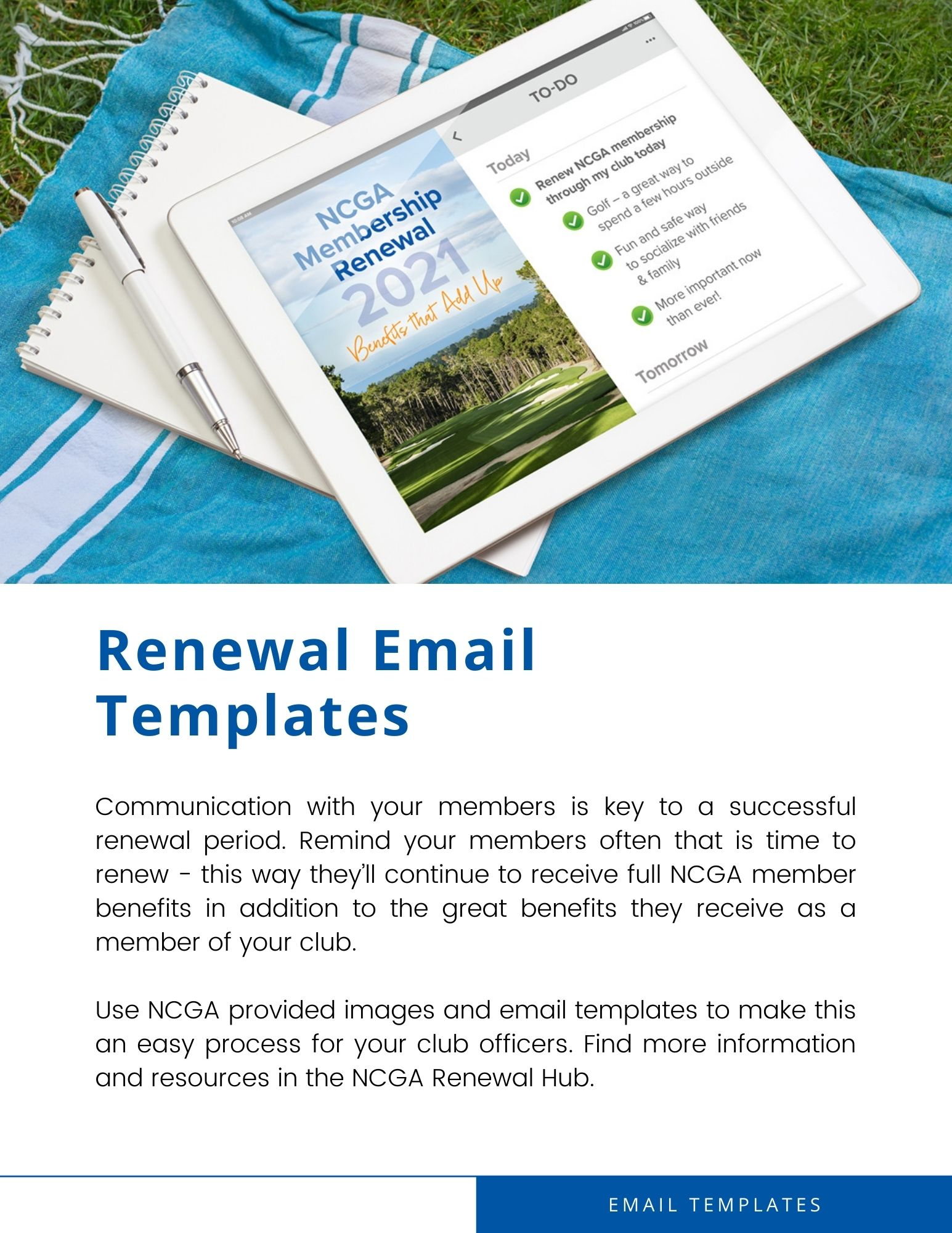 NCGA Renewal Email Templates